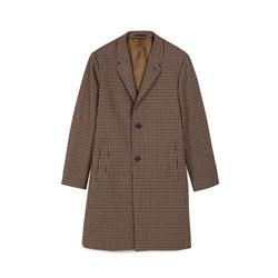The Kooples, Men's brown tartan coat