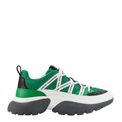 Maje Women's Green W20 Urban Leather Sneakers