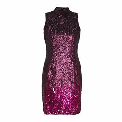 French Connection Starlight sparkle high neck dress