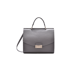 Furla Julia medium top handle leather bag in lava