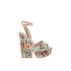 Sergio Rossi  Embroidered wedges from Bicester Village