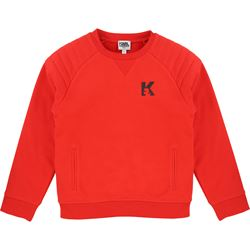Karl Lagerfeld Kids Red Sweatshirt