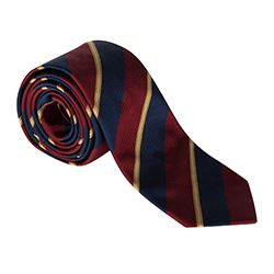 Hackett -Dark red, blue and yellow-striped tie