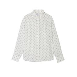 White polka-dot women's shirt
