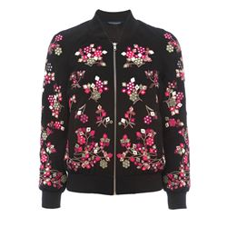 Black Gilliam stitch bomber jacket