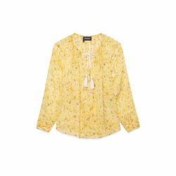 The Kooples Yellow boho top