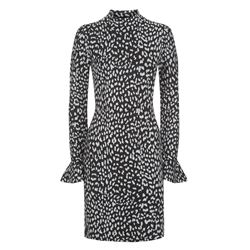 Michael Kors Black/Silver Metallic Cheetah Dress