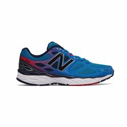 New Balance Men's Blue/Red Trainers