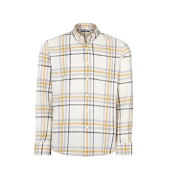 Checked yellow shirt man