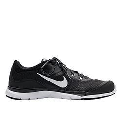 Nike -Black trainers with  black and white printed laces