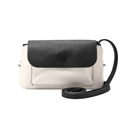 Fossil black and white satchel