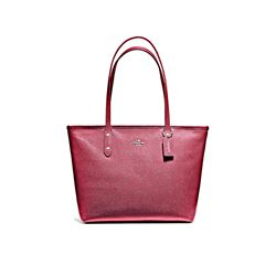Coach Red City Zip Tote