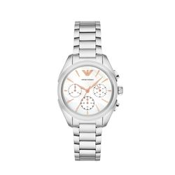 Armani women's watch in silver by Watch Station International at Wertheim Village
