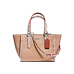 Coach  Exotic tirm crossbody nude from Bicester Village