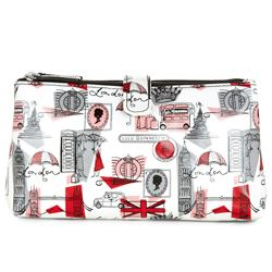 Lulu Guinness laminate cosmetic bag