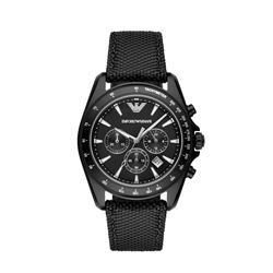 Armani men's watch in balck by Watch Station International at Wertheim Village