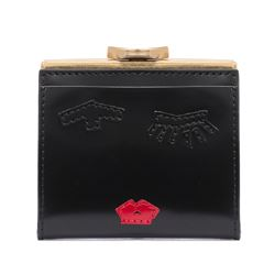 Lulu Guinness black frame purse