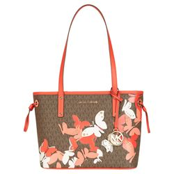 Michael Kors Dark Sangria JST Small TZ Downstrap Tote