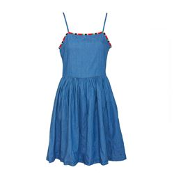 Denim Dress with Coloured Trim