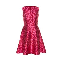 Oscar de la Renta  Pink jacquard dress from Bicester Village