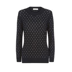 Michael Kors Black/Silver Argyle Stud Top