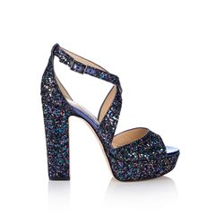 Jimmy Choo Petrol Glitter April 120 Shoes