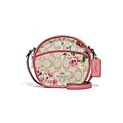 Coach Women's Signature lily print canteen crossbody