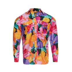 Paisley print button shirt