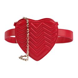 Red heart fanny pack