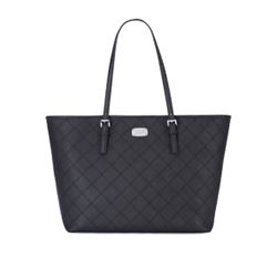 Carryall tote in black by Michael Kors at Wertheim Village