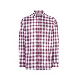 Checked burgundy white shirt