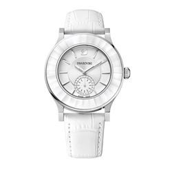 Women's watch in white by Swarovski at Wertheim Village