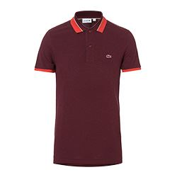Lacoste - Dark red polo with stripe