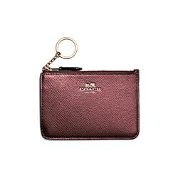 Coach leather key pouch