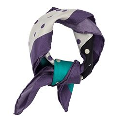 Sarar - Purple scarf with polka dots