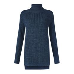 Jigsaw Knit polo neck in Charcoal
