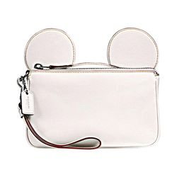 Mickey Leather Ear Wristlet Coach Disney