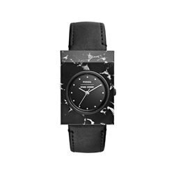 Fossil black square face watch