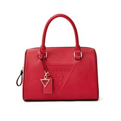 Guess Women's Red Rigden Triangle Box Satchel