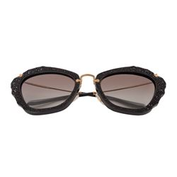 Ray Ban - Black Miu Miu sunglasses with bright frame