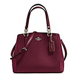 Coach burgundy suede bag