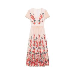 Maje Maxi dress in embroidered tulle from Bicester Village