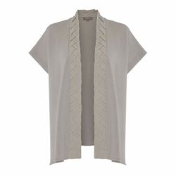 N.Peal 100% Cashmere ladies cable braid cardigan