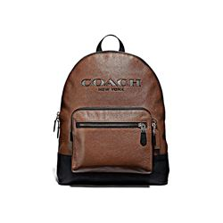 Coach Men's saddle West Backpack In Metallic Coach Cutout