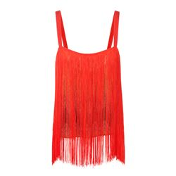 Red top with fringe , Missoni