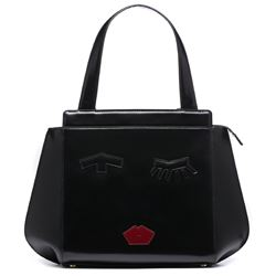 Lulu Guinness black top handle bag