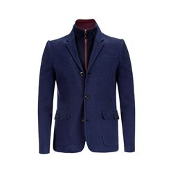 Ted Baker 10-NAVY Jersey jacket with funnel insert from Bicester Village