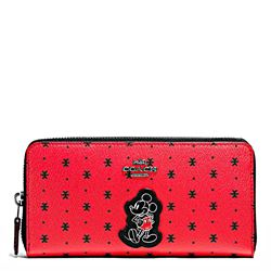 Damen-Geldbeutel 'Mickey Prairie Bandana Accordion Zip' in Rot von Coach in Wertheim Village
