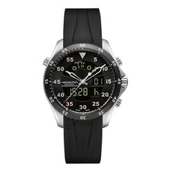 Hour Passion  Hamilton black flight timer from Bicester Village