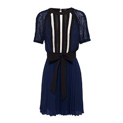 Karen Millen - Blue and black dress with short sleeves